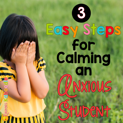 Three Steps to Calming an Anxious Student