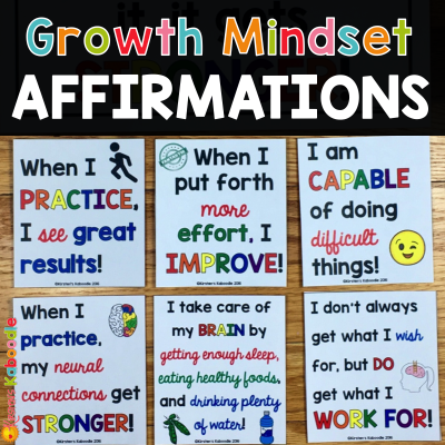 Using Affirmations to Shift Student Mindset