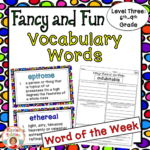 Fancy word vocabulary level three is perfect for 6th-9th grade and will keep your students engaged for weeks!