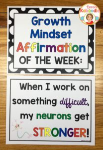 Using Affirmations to Shift Student Mindset • Kirsten's Kaboodle