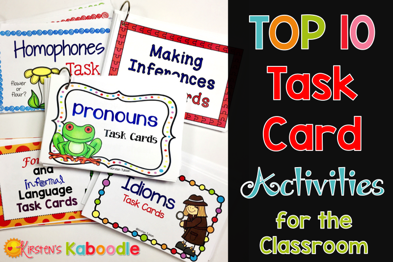 Top Ten Task Card Activities: These top ten uses for task cards in the classroom are easy, fun, and engaging for students!