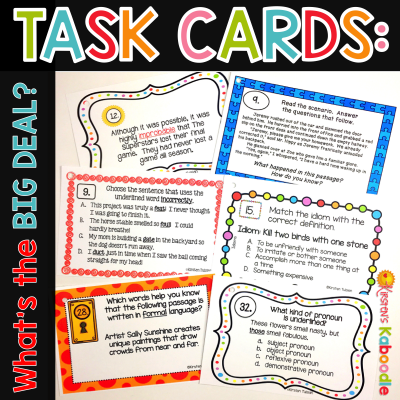 Have you ever wondered what teachers do with task cards? Utilize all the benefits of task cards with your students... it's easy and they're fun to use!