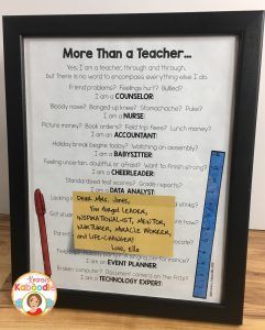Free Teacher Gift from Student or Parent