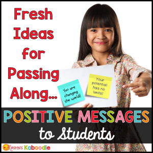 Are you a teacher who is looking for new and fun ways to inspire your students using positive messages? These sticky notes are a unique way to infuse inspiration and motivation in your classroom! Giving your students more encouragement and hope is a win for student success!