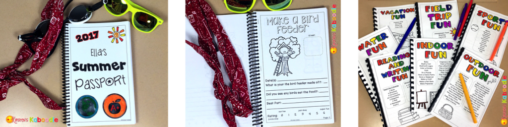 Over 100 pages of summer activities for kids! Organized by activity type, kids can stamp off completed activities and write a small reflection. It's sure to keep your kids busy this summer!