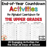 End of Year Alphabet Countdown for Upper Grades
