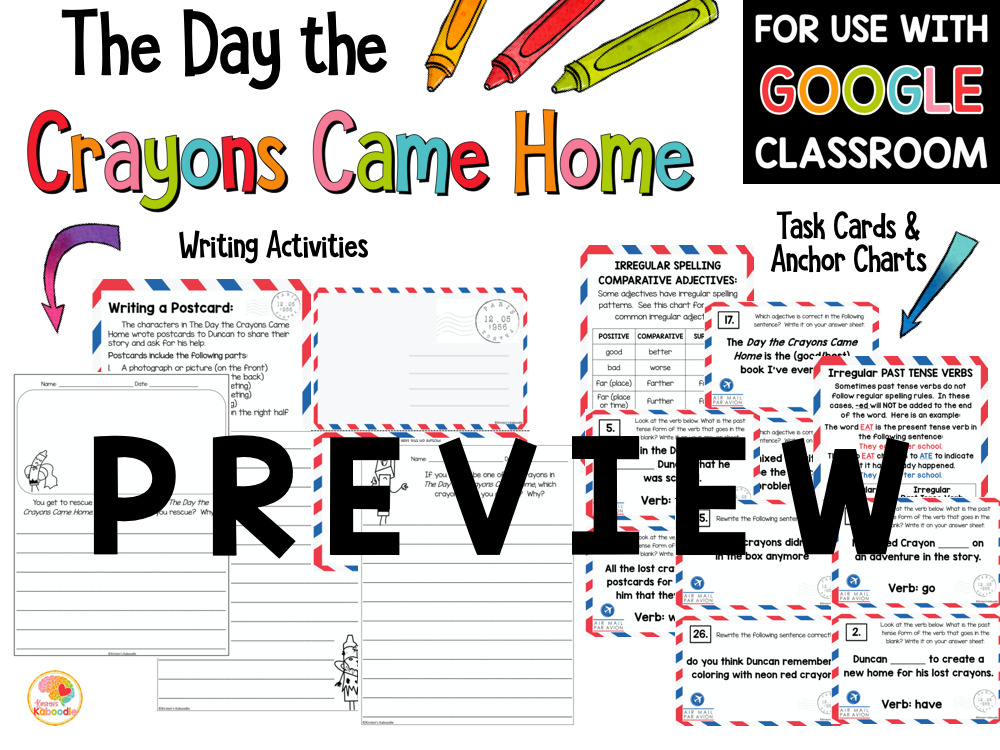 The Day the Crayons Came Home PREVIEW