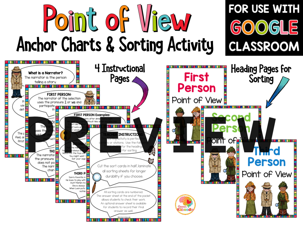 Point of View Sorting Activity PREVIEW