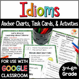 Idioms Activities with Digital Distance Learning Option