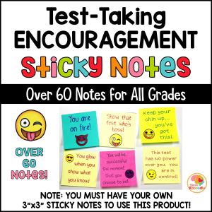 Test-Taking Motivation for Students: Sticky Notes with Positive Messages