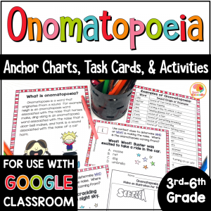 Onomatopoeia Activities with Digital Option COVER