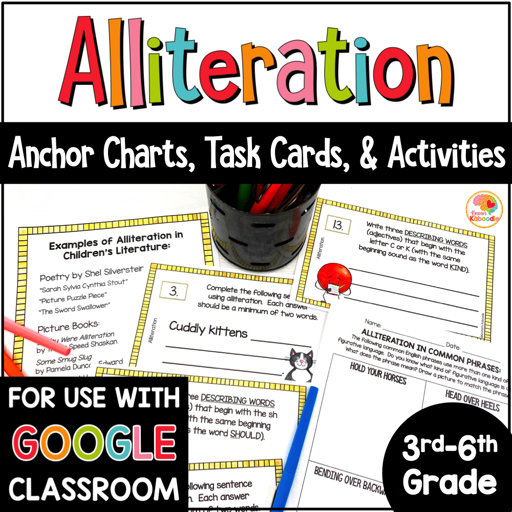 Alliteration Activities with Digital Option COVER