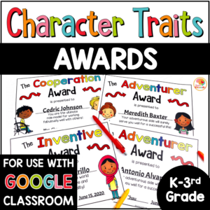 Character Traits Awards for Primary COVER