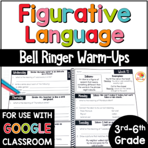 Figurative Language Bell Ringer Warm Ups COVER