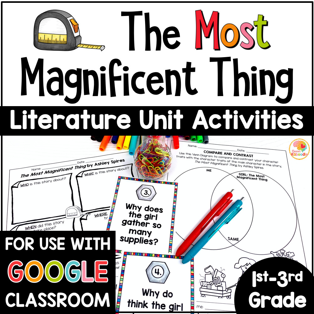 The Most Magnificent Things Activities COVER