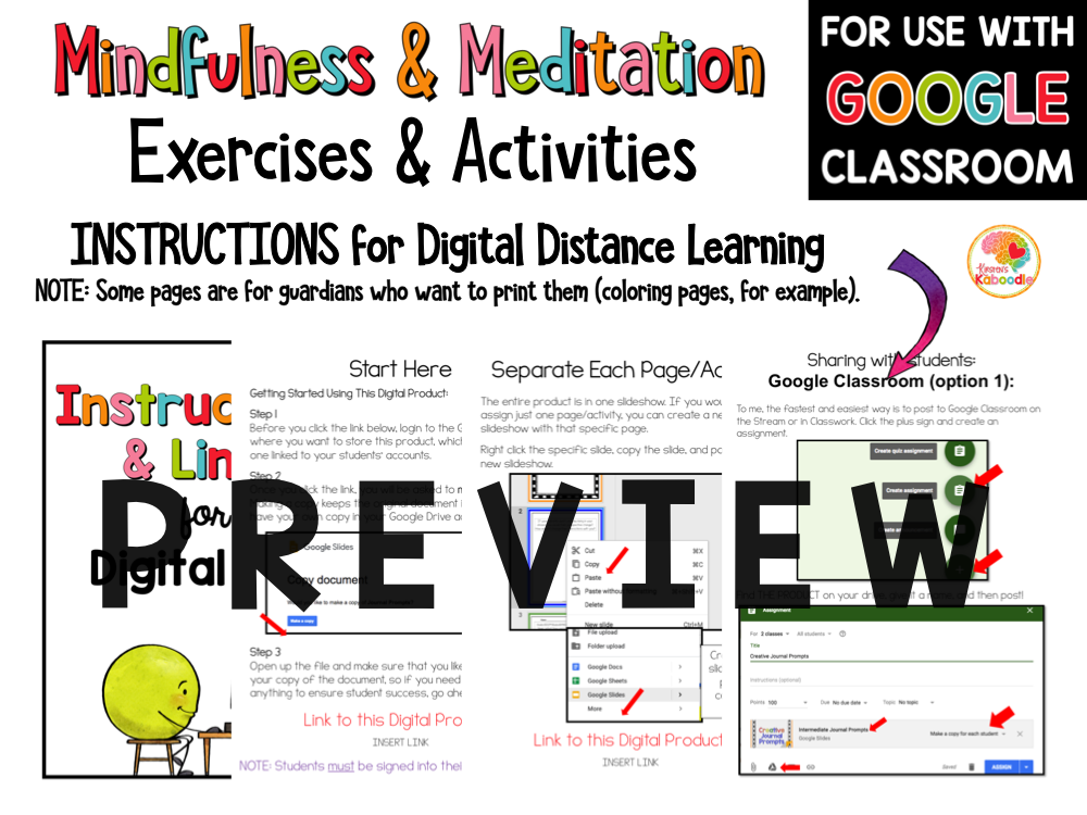 Mindfulness Activities and Meditation Scripts for Kids PREVIEW