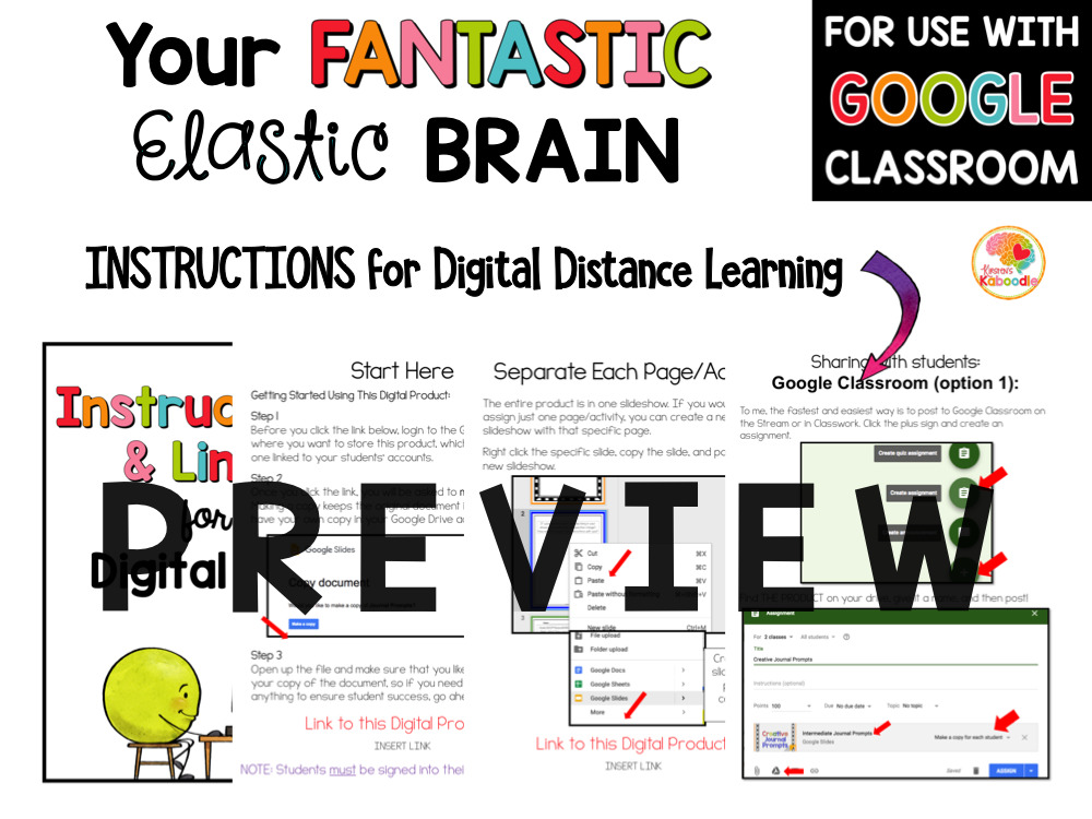 Your Fantastic Elastic Brain Activities PREVIEW