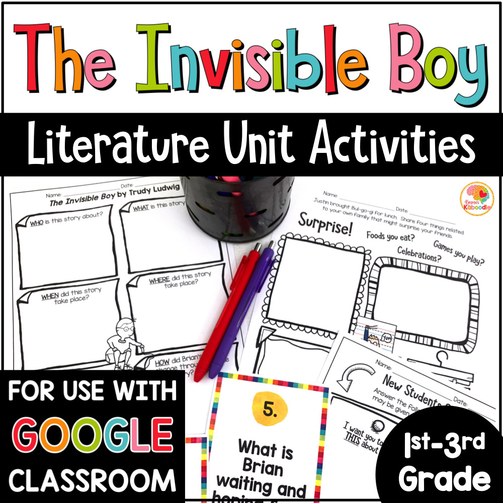 The Invisible Boy Activities COVER