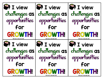 Growth Mindset Affirmations: Posters and Cards with NO CURSIVE