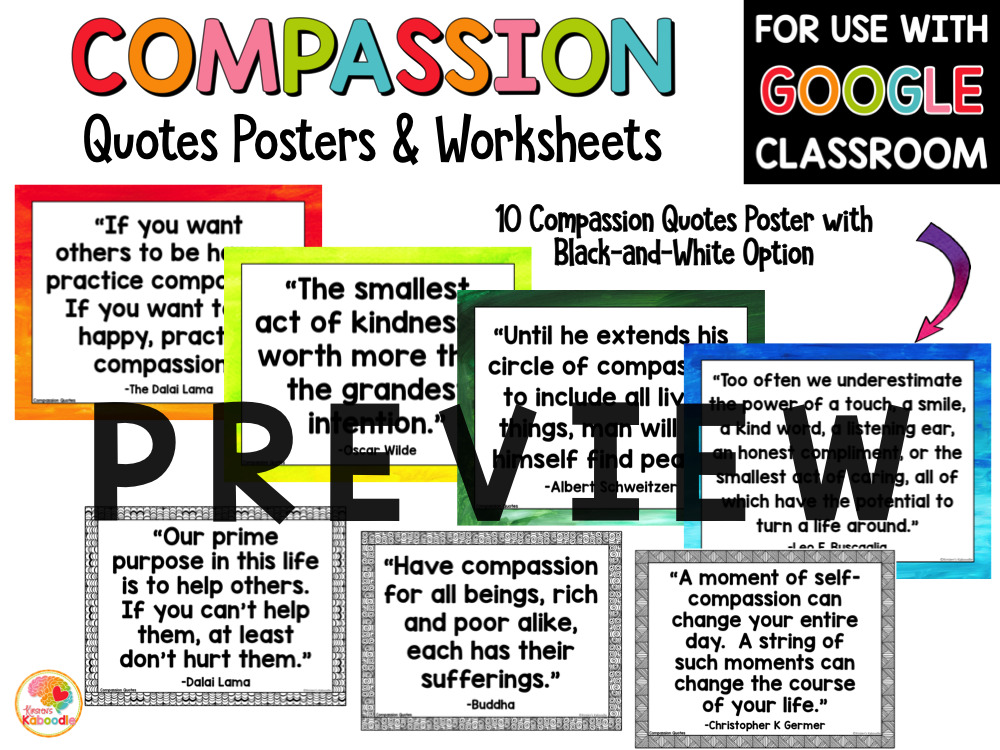 Compassion Quotes and Activities PREVIEW