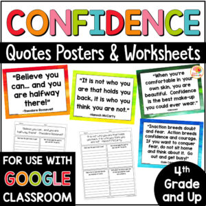 Confidence Quotes Posters and Activities COVER