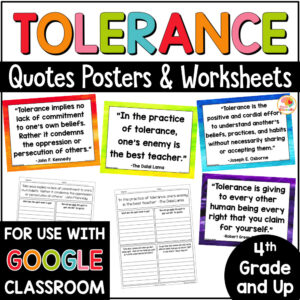 Tolerance Quotes Posters and Activities COVER