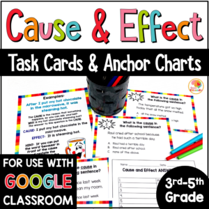 Cause and Effect Task Cards with Digital Option COVER
