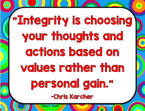 Integrity Quotes Posters and Printables