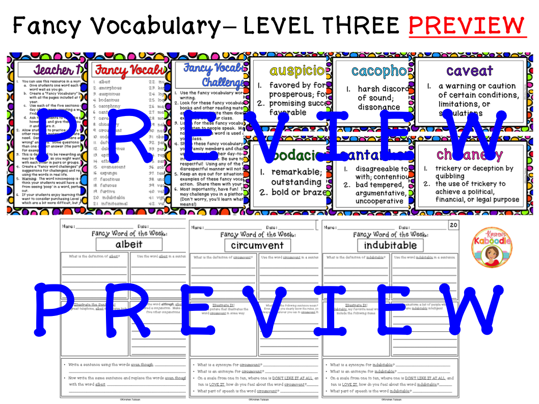 Word Collector Fancy Vocabulary: Word of the Week for 5th-9th Grade