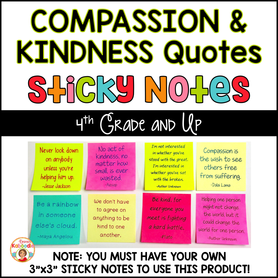 Quotes On Sticky Notes: Compassion And Kindness Quotes On Sticky Notes