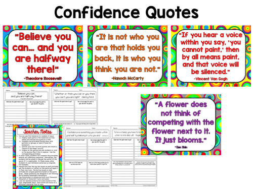 Confidence Quotes Posters and Printables for Growth Mindset