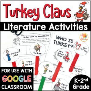 Turkey Claus Activities for Kids COVER