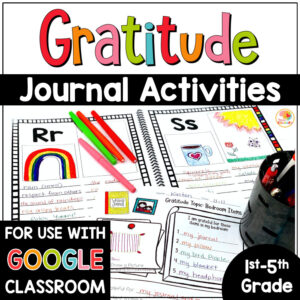 Gratitude Activities and Gratitude Journal for Kids COVER