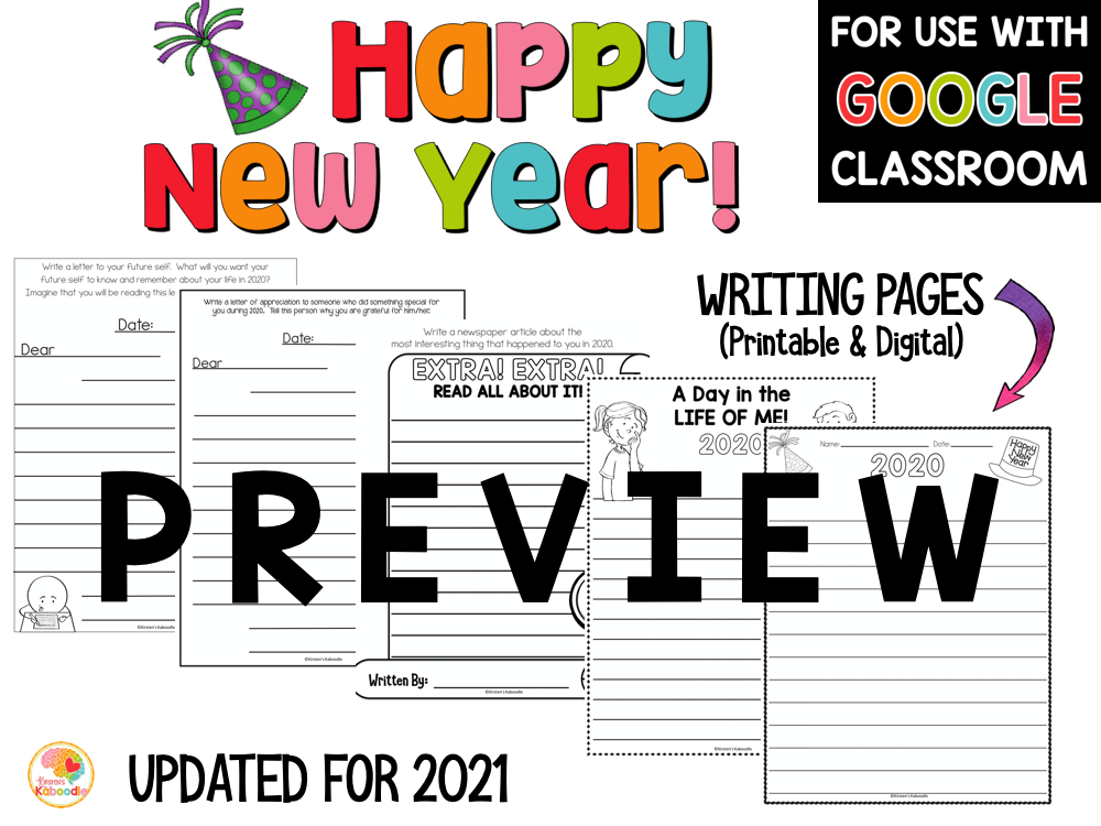 Happy New Year 2021 New Years Activities PREVIEW