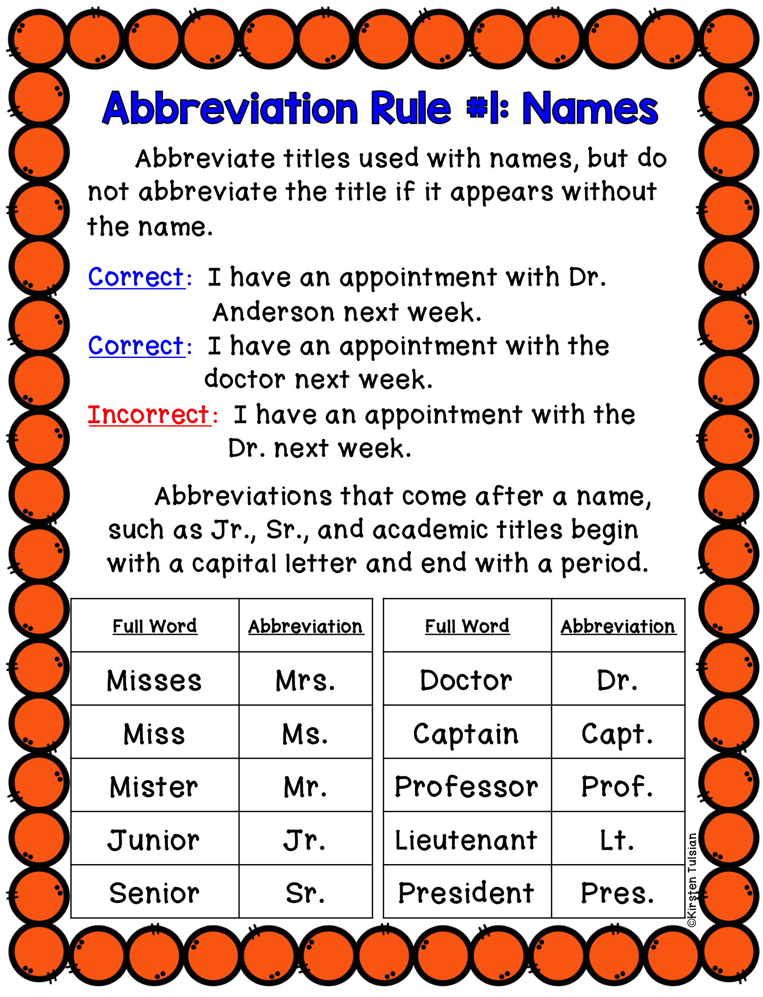Abbreviations Activities: Rules, Task Cards, Study Sheets, and MORE