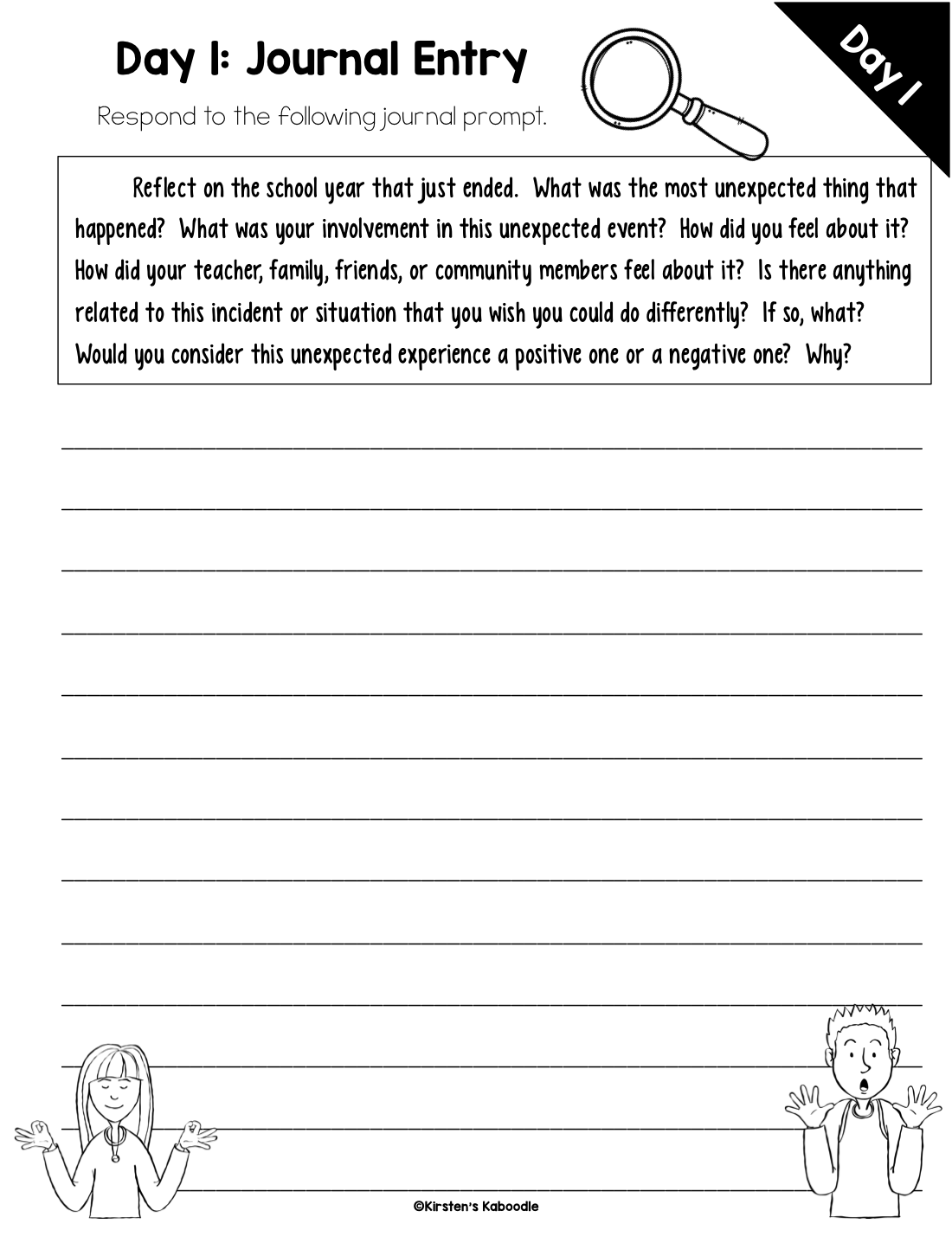 30 Day Summer Writing Challenge for 3rd and 4th Grade