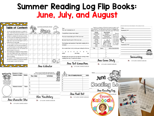 Reading Logs - Flip Books for Summer