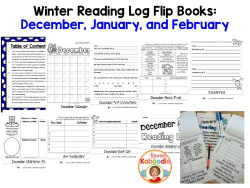 Reading Logs - Winter Flip Books