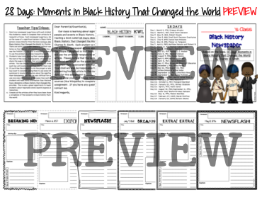 28 Days: Moments in Black History that Changed the World - Newspaper Project