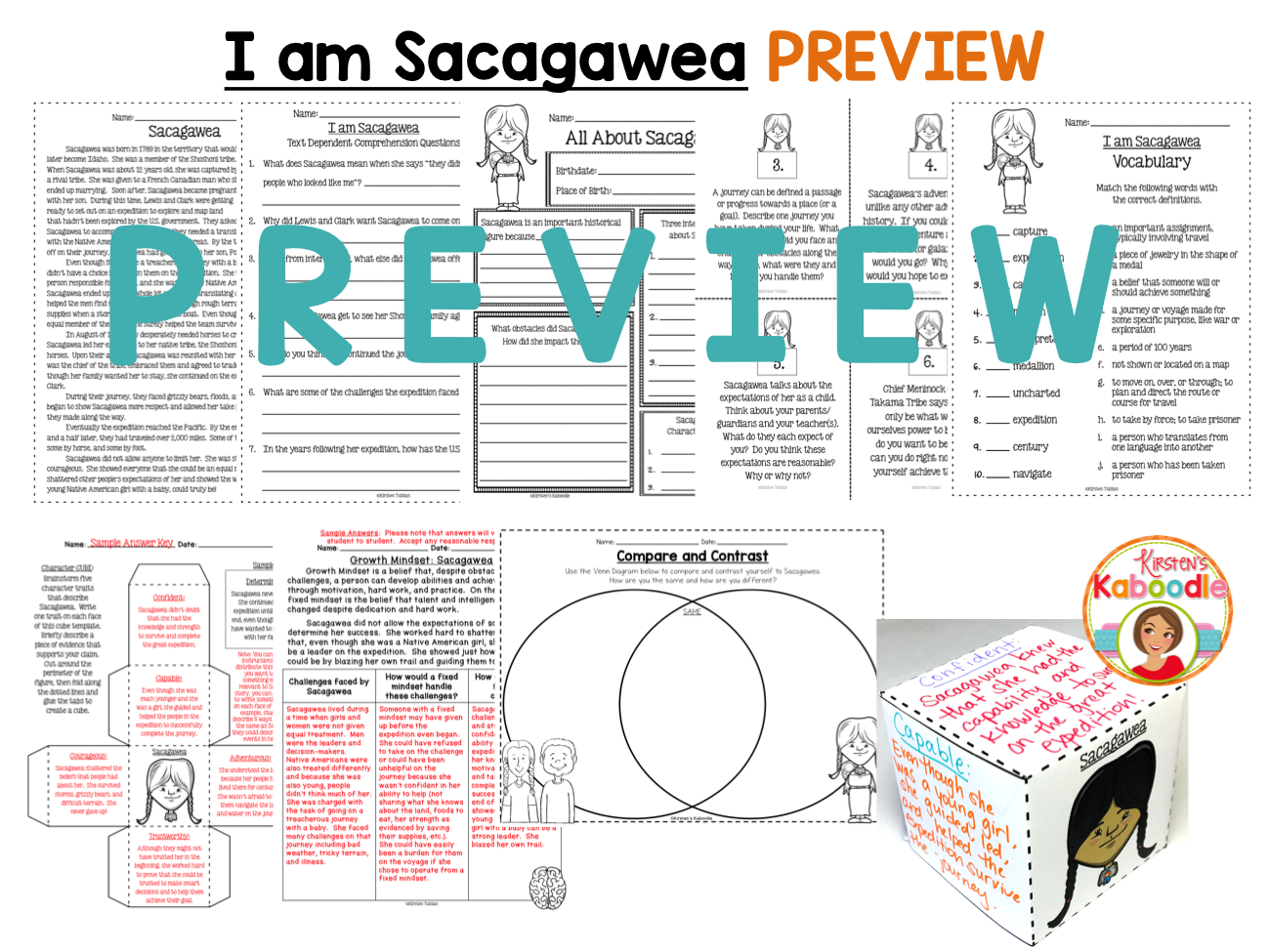 I am Sacagawea by Brad Meltzer Literature Unit Activities