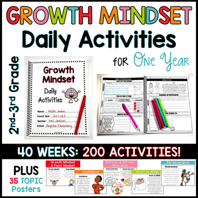 2nd-3rd Grade Growth Mindset Warm-Up