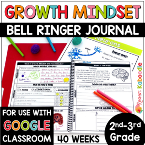 Growth Mindset Bell Ringers for 2nd-3rd Grade COVER
