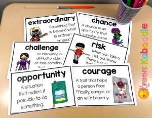Growth mindset activities and vocabulary for What Do You Do With a Chance? by Kobi Yamada