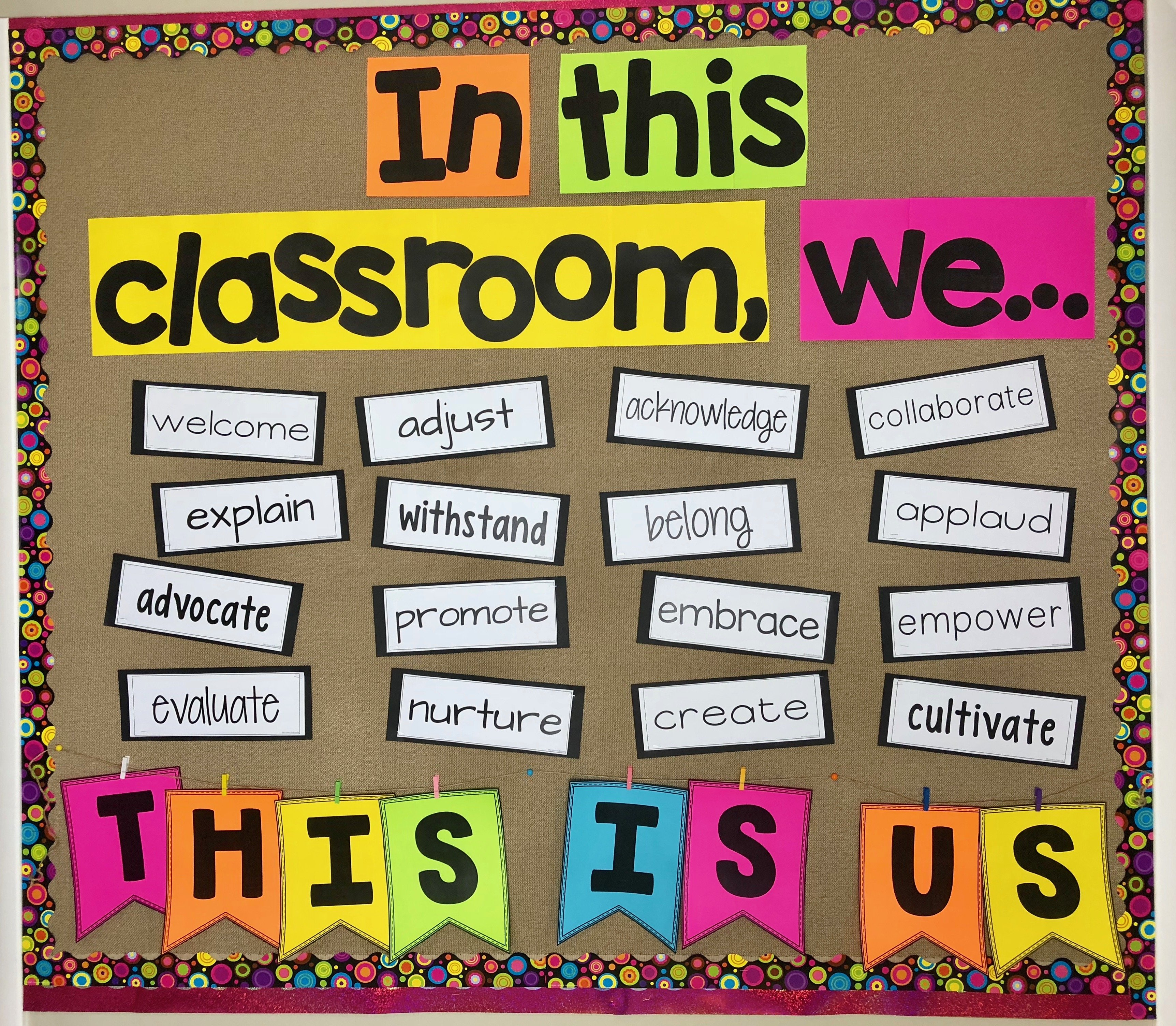 Community Building Activities Using ACTION WORDS - THIS IS US!