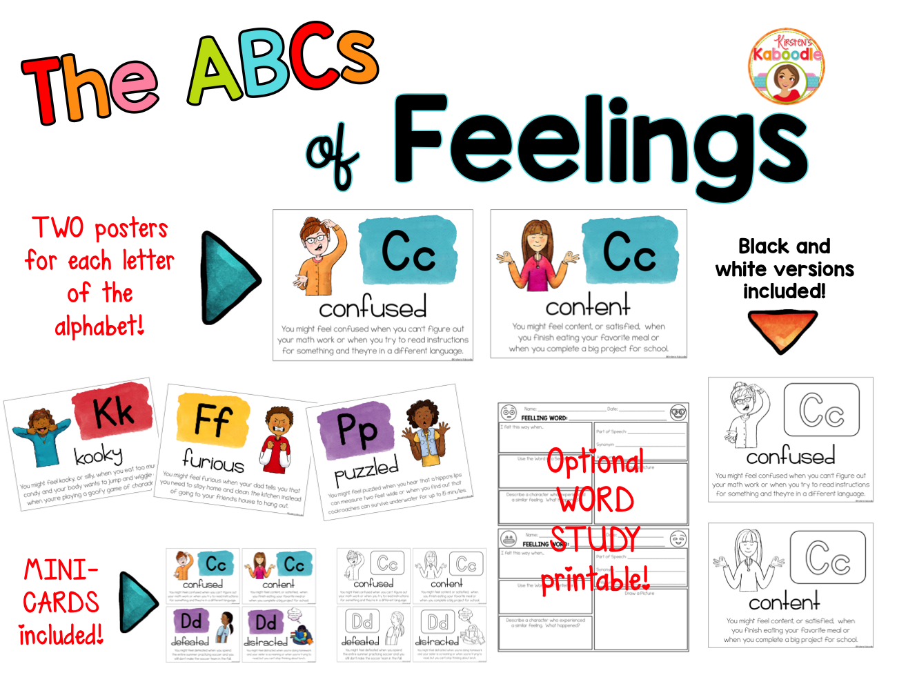 Feelings Posters - The ABCs of Feelings