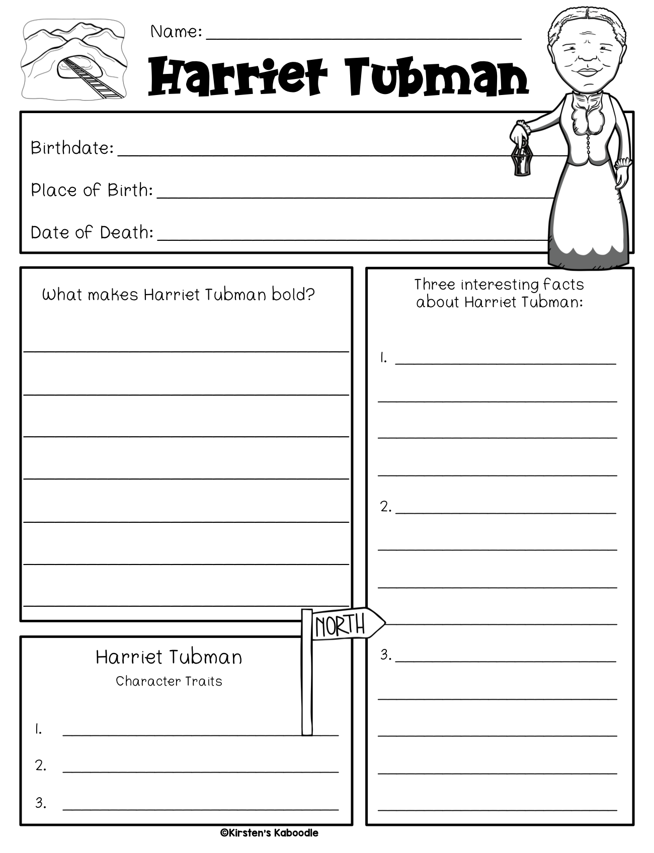 Little Leaders: Bold Women in Black History RESEARCH TEMPLATES
