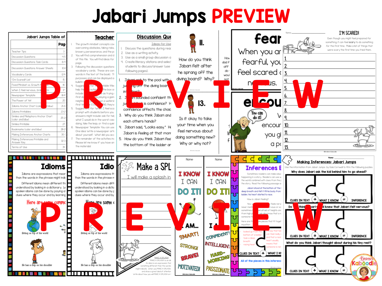 Jabari Jumps Activities: Story by Gaia Cornwall