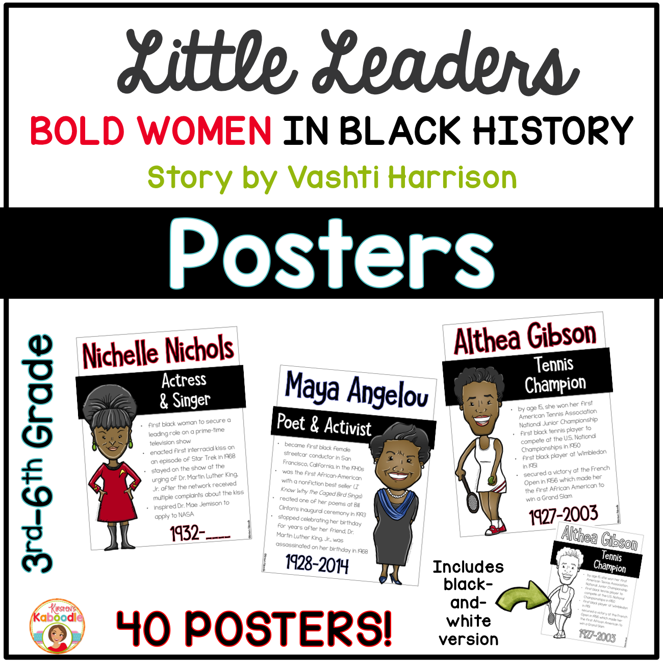 Little Leaders: Bold Women in Black History POSTERS