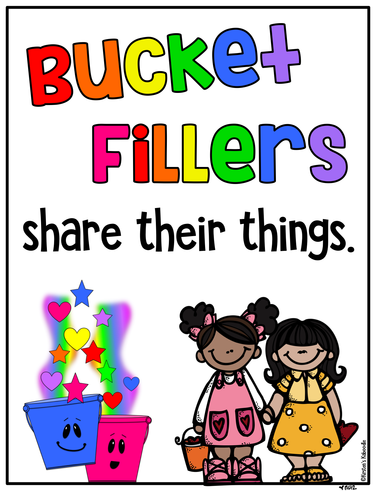 Bucket Filler Posters and Activities