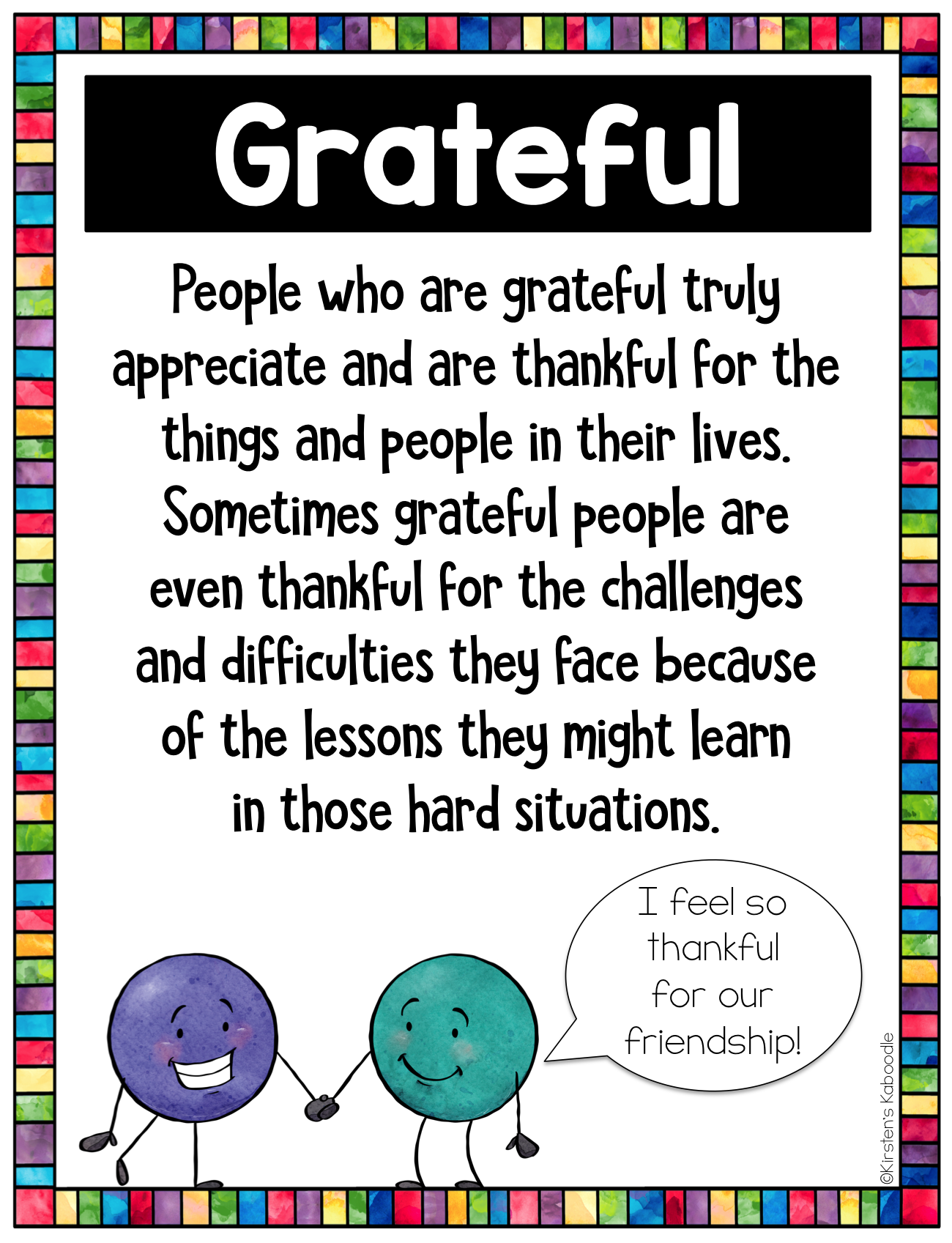 Character Traits Graphic Organizer: Character Trait of the Week